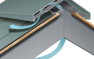 Metal roof vents and ventilation system