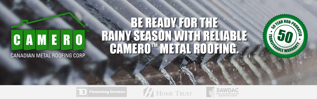 Camero metal roofing financing starting at $97/month