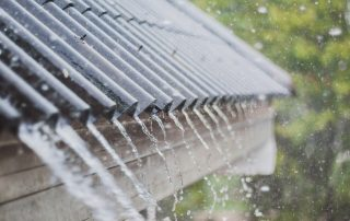rain and lightning on your cameo metal roof