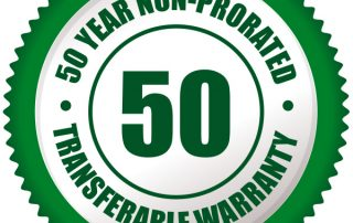 Steel roof non-prorated warranty