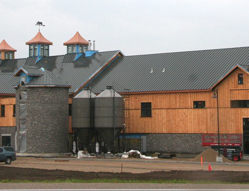Black Quick Snap Standing Seam profile on the Cowbell Brewery